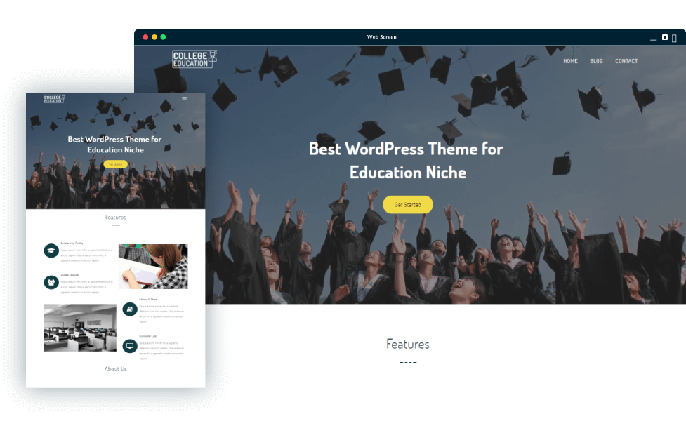 College Education WordPress Theme | SigmaThemes